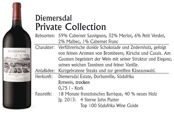 Diemersdal Private Collection Red 1,5l. Magnum 2016