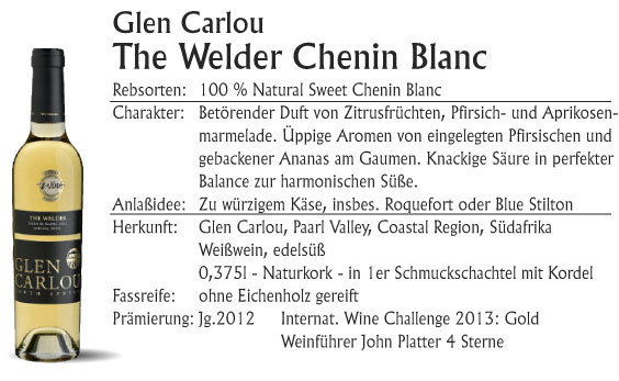 Glen Carlou The Welder Chenin Blanc 2016 (edelsüß)