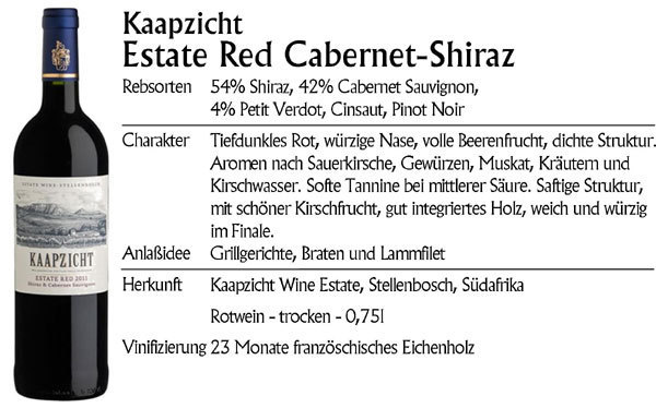 Kaapzicht Estate Red Cabernet Sauvignon-Shiraz 2017