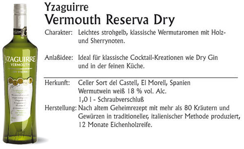 Yzaguirre Dry Reserva 1,0 l