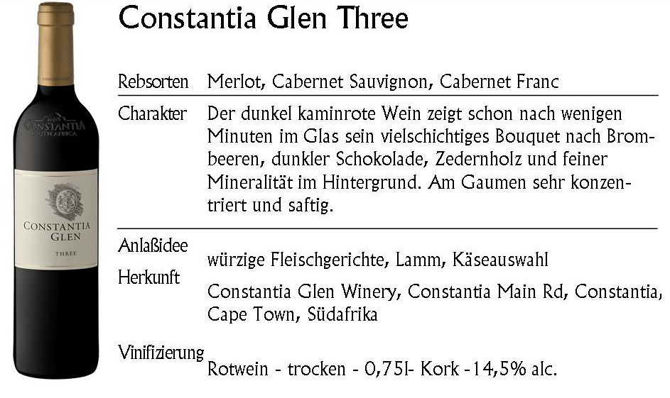 Constantia Glen Three 2016