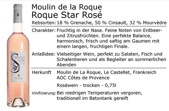 Moulin de la Roque Roque Star Rosé 2017
