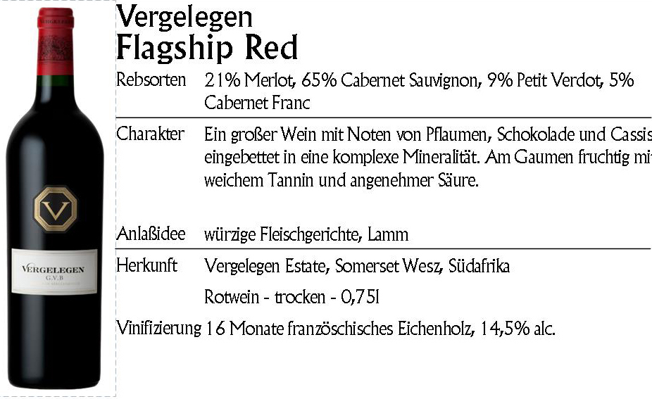 Vergelegen Flagship Red 2013