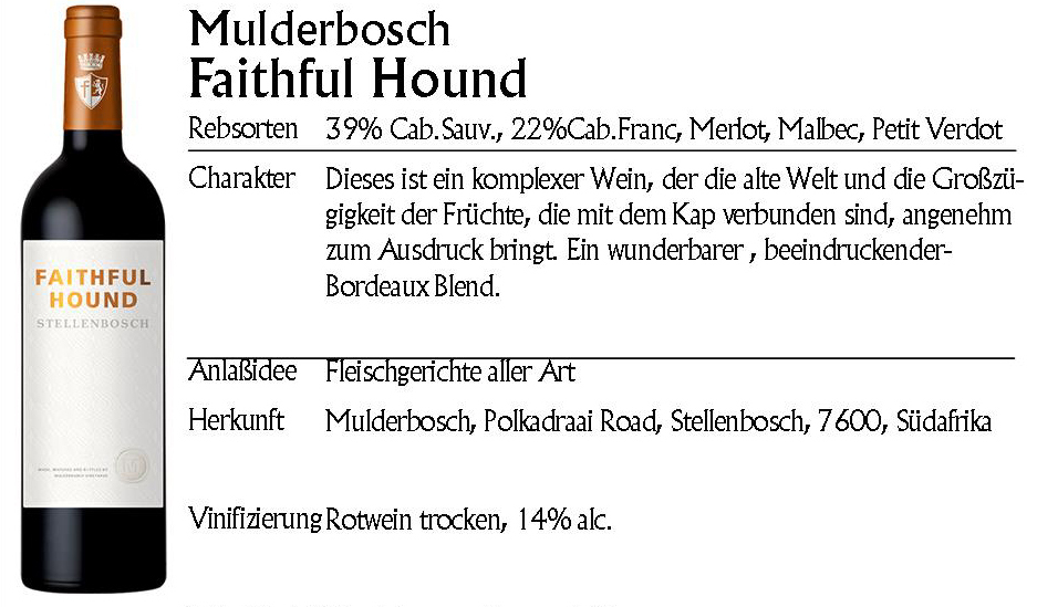 Mulderbosch Faithful Hound 2016