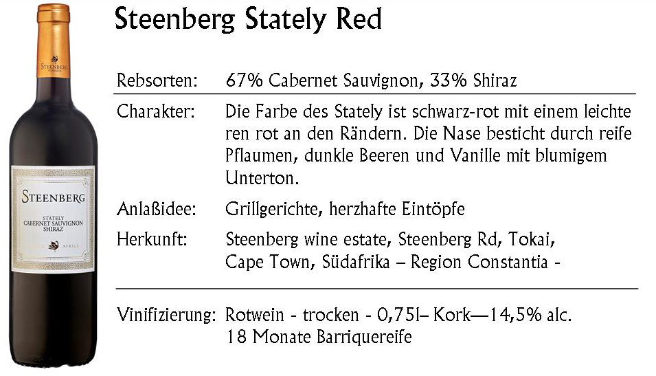 Steenberg Stately Red 2016
