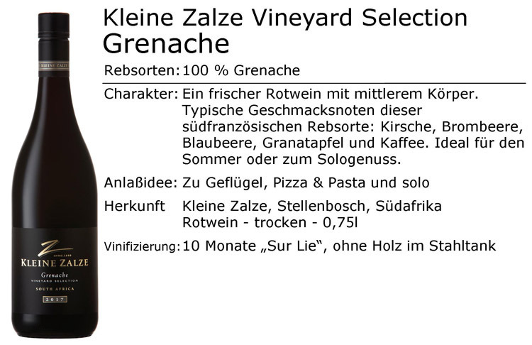Kleine Zalze Vineyard Grenache Red 2017