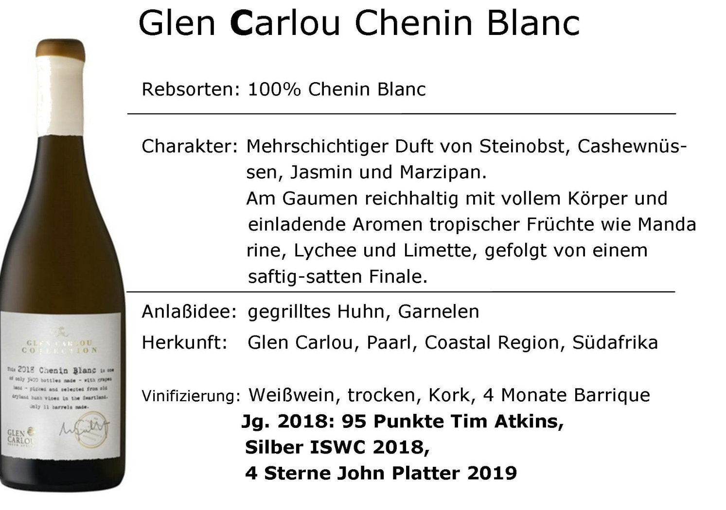 Glen Carlou Collection Chenin Blanc 2018