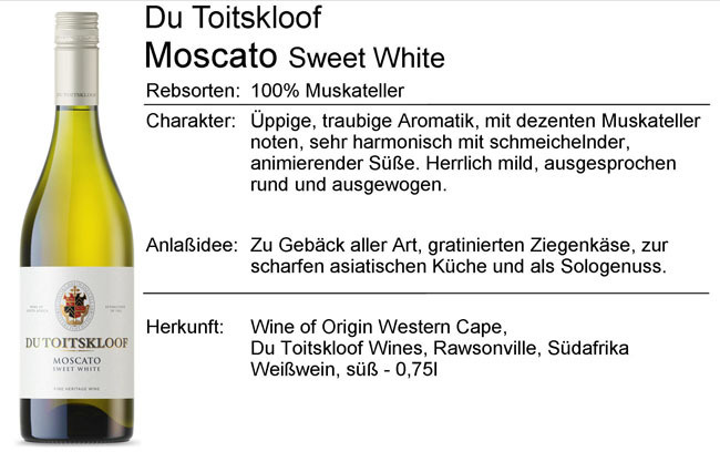 Du Toitskloof Moscato Sweet White 2019