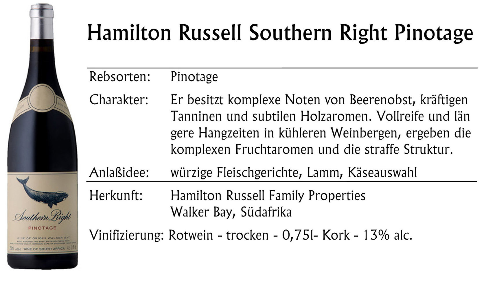 Hamilton Russell Southern Right Pinotage 2019