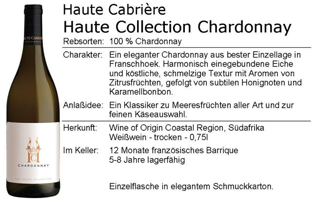 Haute Cabriere Haute Collection Chardonnay 2018