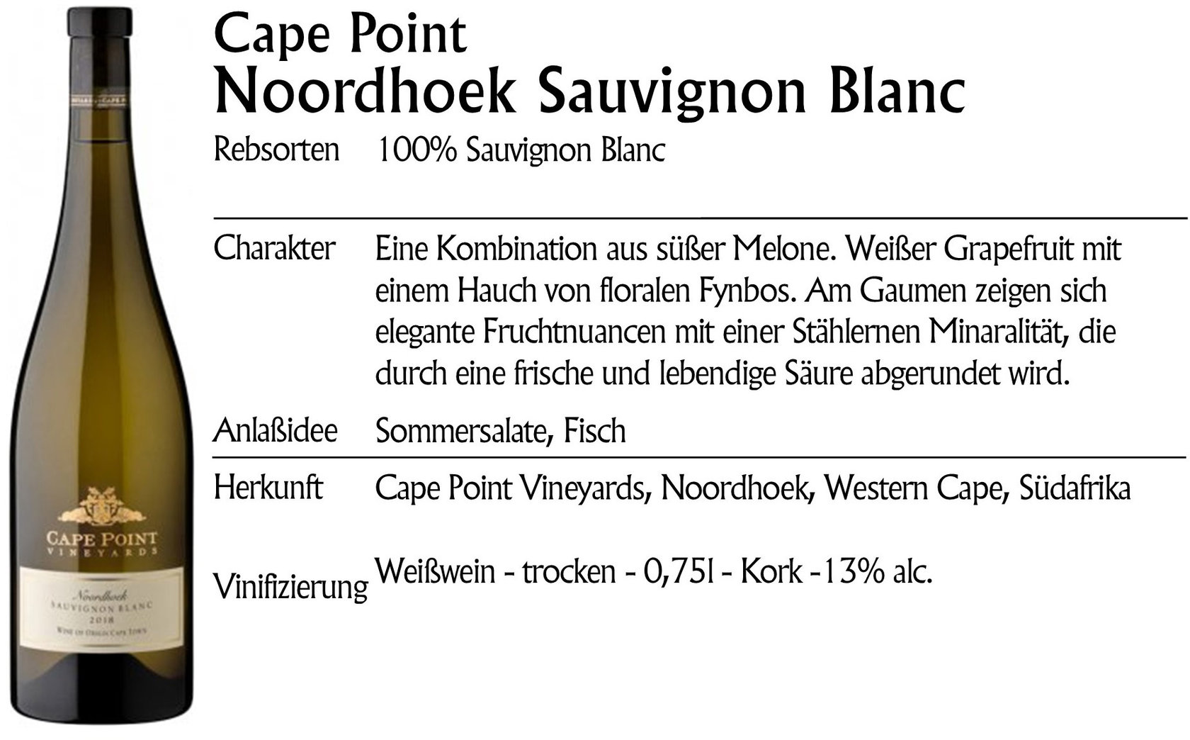 Cape Point Noordhoek Sauvignon Blanc 2018